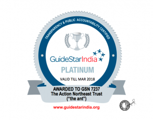 the ant's Guide Star India Platinum Certification for credible NGOs